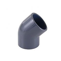 PVC ragasztható (nyomócső) idomok - 45° ív